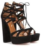 Aquazzura Beverly Hills Plateau 140 suede sandals