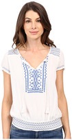 Lucky Brand Embroidered Smock Top