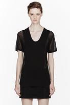 Alexander Wang Black Sheer Scoopneck T-Shirt
