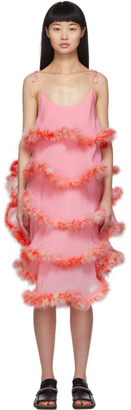 Ashley Williams Pink Feathers Cake Dress