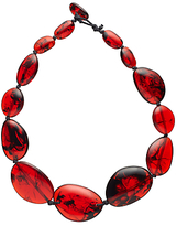 Jackie Brazil Riverstone Tortoise Long Necklace, Red