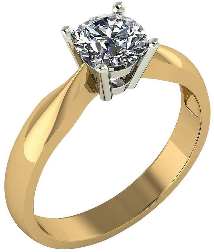 Moissanite 9-Carat Yellow Gold, 75 Point Solitaire Ring