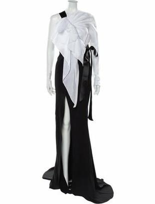 Alexandre Vauthier Colorblock Pattern Long Dress w/ Tags Black