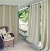 "Elrene Connor 52"" x 84"" Indoor/Outdoor Grommet Panel, Water-Repellent and 50+ UV Protection"