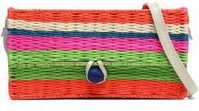 Sophie Anderson Striped Straw Shoulder Bag