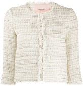 Twin-Set Twin Set cropped tweed jacket