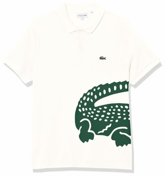 Lacoste Men's Short Sleeve Large Croc Animation Regular Fit Polo Shirt