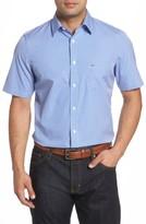 Nordstrom Men's Big & Tall Regular Fit Check Short Sleeve Sport Shirt