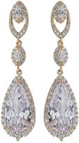Mikey Twin Oval Cubic Drop Loop Earring