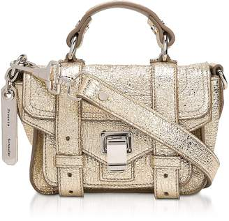 Proenza Schouler PS1 Micro-Textured Metallic Mix Leather Shoulder Bag