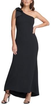 Eliza J Petite One-Shoulder Bow Gown