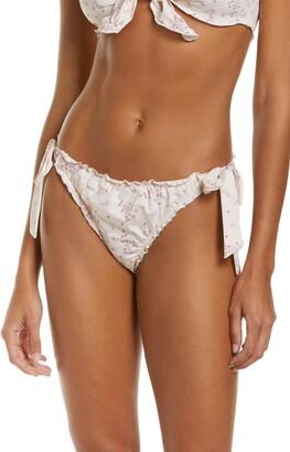 Frankie's Bikinis Colby Ruffle Bikini Bottoms