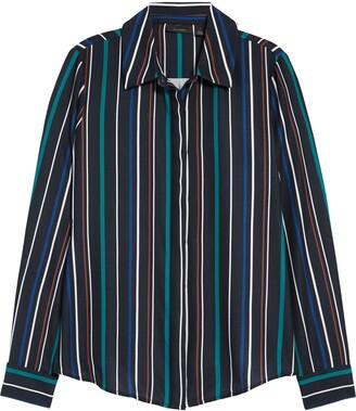 Halogen Hidden Button Long Sleeve Blouse