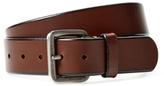 Andrew Marc Beveled Leather Belt