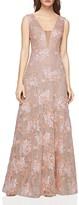 BCBGMAXAZRIA Illusion-Inset Lace Gown