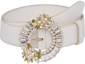 Miu Miu Crystal-Embellished Belt