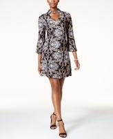 Jessica Howard Petite Printed Mock-Neck Dress