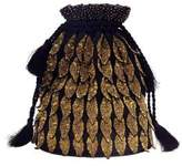 Forest of Chintz Gilted Leaf Drawstring Bag