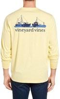 Vineyard Vines Men's Fishermans Fleet Graphic Pocket Long Sleeve T-Shirt