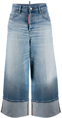 DSQUARED2 wide leg faded jeans