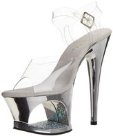Pleaser USA Women's Moon-708 Ankle-Strap Sandal