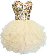 Sunvary Gorgeous Rhinestone Short Girls Homecoming Prom Dresses Size