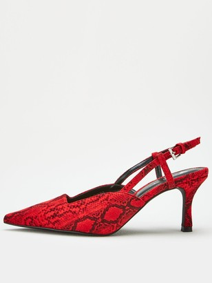 Very Coco Slingback Point Court Shoe - Red