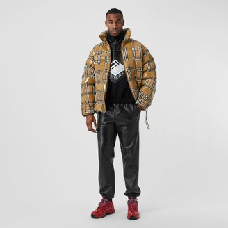Burberry Tape Detail Vintage Check Puffer Jacket