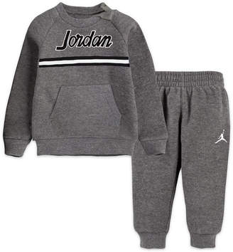 Jordan Baby Boys 2-Pc. Fleece Sweatshirt & Jogger Pants Set