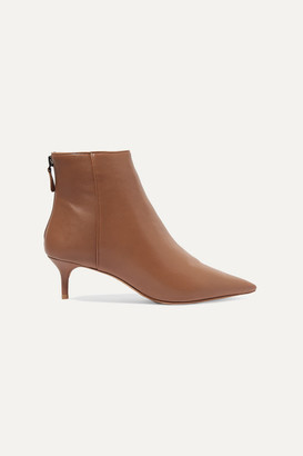 Alexandre Birman Kittie Leather Ankle Boots - Tan