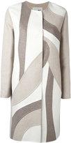 Manzoni 24 patchwork single breasted coat