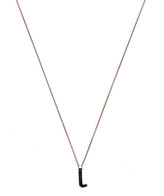 kc designs rose gold black diamond letter l necklace