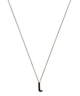 kc designs rose gold black diamond letter l necklace