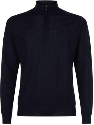 Wool Zip-Neck Top
