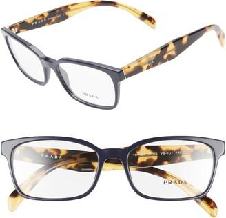 Prada 53mm Square Optical Glasses