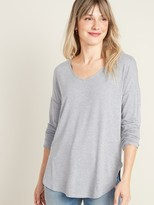 Old Navy Luxe V-Neck Long-Sleeve Tunic Tee for Women