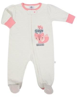 Just Born Organic Baby Girl Fox Sleep N' Play Pajama