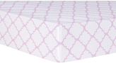 Trend Lab Lilac Orchid Bloom Quatrefoil Fitted Crib Sheet