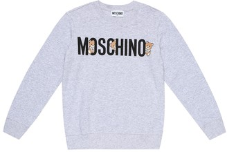 MOSCHINO BAMBINO Logo stretch-cotton sweatshirt