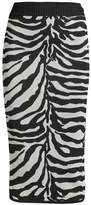 Herve Leger Zebra Pencil Skirt