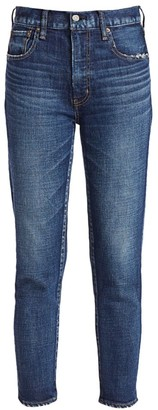 Moussy Cameron High-Rise Skinny Ankle Distressed Jeans