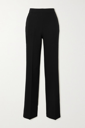 Safiyaa Goldie Stretch-crepe Straight-leg Pants - Black