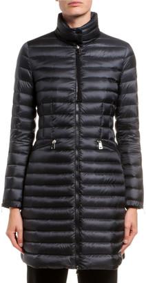 Moncler Sable Channel-Quilt Puffer Coat