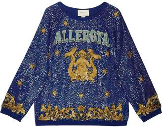 Gucci Allergya sequin embroidered jumper