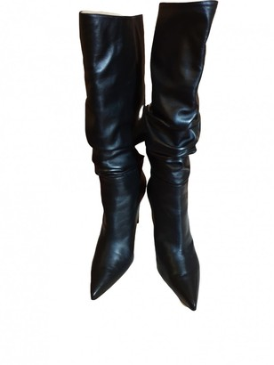 Alexandre Birman Black Leather Boots