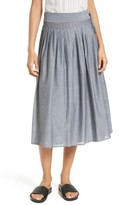 Vince Women's Pinstripe Wrap Skirt