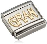 Nomination Composable Women's Charm Classic 18 K Gold Lettering GRAN Picture 030107 / 18 Stainless Steel