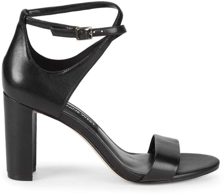 a19122264c8 Nunzaya Crossover Ankle Strap Leather Sandals