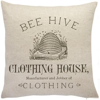 The Watson Shop Bee Hive Linen Throw Pillow