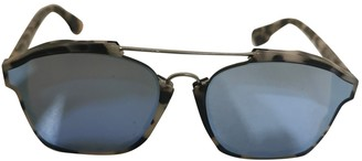 Christian Dior Abstract Beige Plastic Sunglasses
